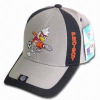 Buy cheap Sports Cap with Back Velcro Closure, Logo Embroidery on Front and Peak product