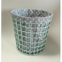 Buy cheap paper rope woven bin,  trash basket with fabric liner, beautiful design product