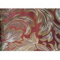 Red Floral Pattern Floral Jacquard Fabric Polyester Sofa Cover