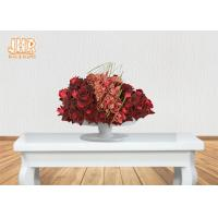 Buy cheap Footed Glossy White Fiberglass Centerpiece Table Vases Flower Serving Bowl product