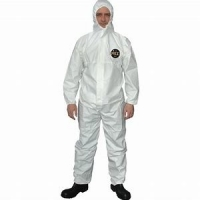 Buy cheap PP+PE Dust Proof Non Woven Fabric Disposable Body Suit Breathable from wholesalers