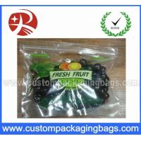 Buy cheap Plastic Custom Printed Ziplock Bag Eco-friendly , biodegradable from wholesalers