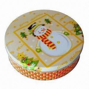 Buy cheap Gift Tin Box, Measures Ø230x58mm product