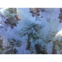Buy cheap Black Flowers Printed Leather Look Fabric Bonded With Blue Fabric For Ladies Garment product