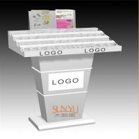 Buy cheap Custom Retail Flooring Display Stands Acrylic Storage Trays For Makeup Printing Color Logo product