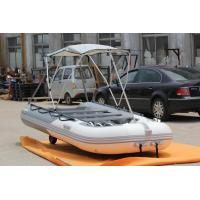 China Wider Bow Inflatable Fishing Pontoon Boats , Small Pontoon Boats 380 Cm OEM Accepted on sale