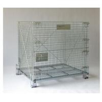 Collapsible Wire Mesh Container Rolling Metal Storage Cage With Wheels