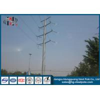 Buy cheap Communication Burial Type Electric Power Pole 40FT High Hot Dip Galvanized from wholesalers