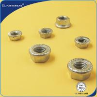 Buy cheap DIN 6923 Hex Flange Nut , Stainless Steel Flange Nuts Bright / Yellow Zinc Plated product