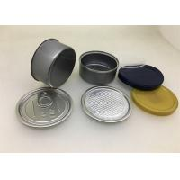 Buy cheap 65 x 29mm 80ML Cannabis Tin Can With Easy Open End And Plastic Lid For Hemp from wholesalers