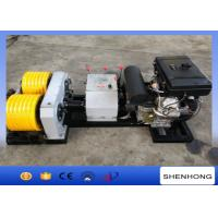 40KN Rated Load Diesel Cable Winch Puller 6 Grooves 240 mm Bottom Diameter Manufactures