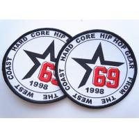 Buy cheap Rubber 3D Custom Clothing Patches Embosssed With Backing product
