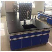 Buy cheap All Steel Modular Lab Furniture , Laboratory Wall Bench With Reagent Shelf product