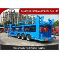 Buy cheap 12 Car Carrier Semi Trailer , Skeletal Type 2 / 3 Axles Vehicle Transport  Trailer product