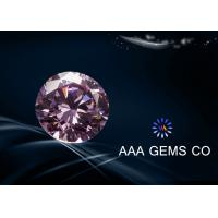 0.84CT pink Decorations Round moissanite gemstone for earrings / pendants Manufactures