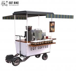 Buy cheap 4 Wheels Vending Outdoor Coffee Cart Powder Coating Mobile Coffee Bike product