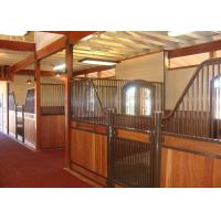 China Custom European Horse Stalls Panels Low Stall Front Design Adjustable Latch Plate on sale
