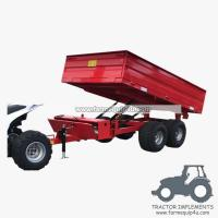 3TR4WM - 4wheels small tractor trailer dump trailer with moto 3Ton