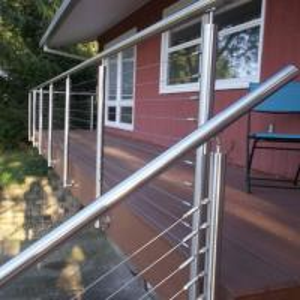 Buy cheap Modern new model stainless steel balstrade /terrace railing designs product