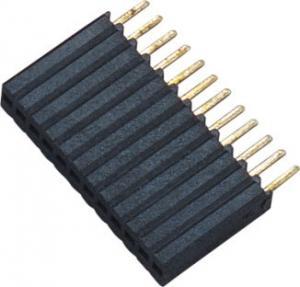 1*12P H=8.5 Female Header Connector Connector 1.27 Mm Pitch Phosphor Bronze