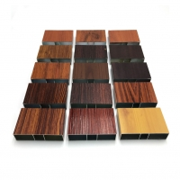 Buy cheap 6063 T5 Alloy Heat Transfer Wood Grain Aluminum Extrusion Profiles For Construction product