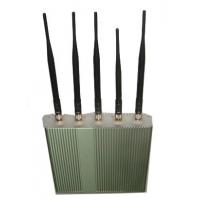 Buy cheap 5 Antenna Cell Phone jammer+ Remote Control (3G, GSM, CDMA, DCS) product