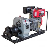 Buy cheap Air cooled diesel engine winch 3 ton fast speed cable pulling machine for pulling hoisting lifting product