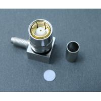 Buy cheap 75 Ohm Smz Female Right Angle Connector RG178 Brass Connector For Cable product