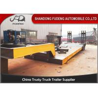 Buy cheap Hydraulic 2 / 3 / 4 Axles Detachable Gooseneck Trailer 50-100 Tons Payload product