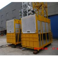 Buy quality 1200kg Painted Building Material Twin Cage Hoist 3.6 x 1.5 x 2.5m SC200/200 at wholesale prices