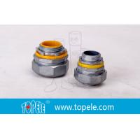"""Buy cheap 4"""" Flexible Conduit And Fittings Blue / Yellow Straight Liquid Tight Connector from wholesalers"""