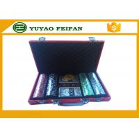 Buy cheap Luxury 11.5 Gram 200 Pcs Colored Poker Chips With Red Leather PU Case product
