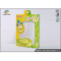 Green / Yellow Foldable Gift Boxes Eco Friendly PVC Window For Children Bowl