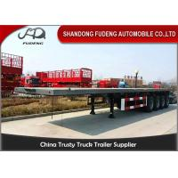 Buy cheap 4 axles flatbed container semi trailer 60 ton capacity with container lock product