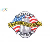 Buy cheap USA Style Embroidered Country Flag Patches Polyester Material With Heat Cut Border product