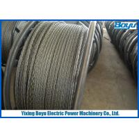 Load 360kN Overhead Line Stringing Pilot Rope 24mm Anti - twisting Breaking