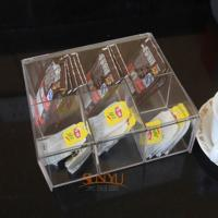Buy cheap 4mm Food Display Case Clear Acrylic Storage Trays With 6 Lattices product