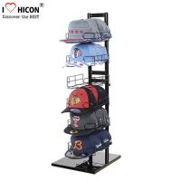 China Sportswear Products Store  6 - Layer Retail Display Fixtures Counter Top For Hat / Cap on sale