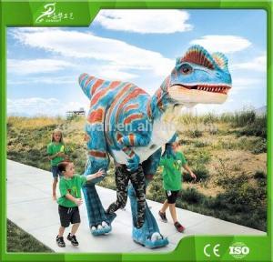Buy cheap KAWAH Animatronic Adult Life Like Man Riding Dinosaur Costume product