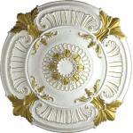 PU medallion ceiling medallion gold sketch effect pu cornice moulding pu ceiling light pu medallion (HM-009) Manufactures