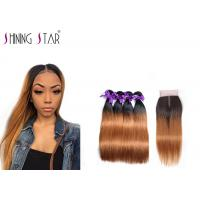 Buy cheap 8A Strong Straight Brazilian Hair Bundles With Closure No Bad Smell 10-26 Inch product