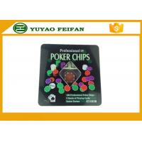 Buy cheap 100 Pcs Tin Box Texas Holdem Luxury Poker Chips Set Personalized Poker Chips product