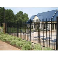High Security Commercial Fencing Metal Frame Pickets 25*25mm