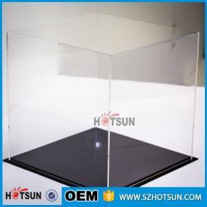 Buy cheap acrylic football boot display case, clear acrylic baseball hat display case, plexiglass acrylic rectangle box product