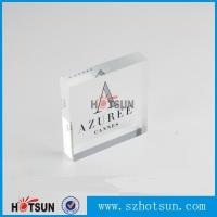 Buy cheap OEM brand logo solic acrylic block, Lucite/PMMA promotion block stand product