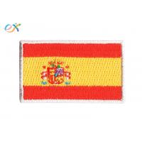 Buy cheap Polyester Fabric Iron On Flag Patches , Embroidery Edge Military Cloth Patches product