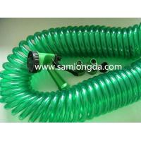 Buy cheap Lead Free PU Coiled Garden Hose 25FT with Brass coupler, hot sale on Amazon, and Ebay product