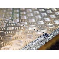 China 1050 H14 1.5X1250X2500 aluminum checker diamond treadplates raised plates on sale