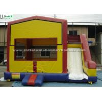 PVC Tarpaulin Inflatable Bounce Houses With Slide Multifunctional