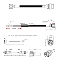 Buy cheap 2 Core ODC Socket Plug to LC TPU Connector for Fiber Optic Patch Cables in BBU RRU Base Station product